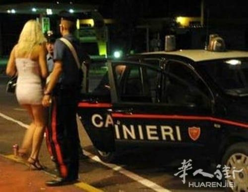 维琴察警方扫黄大检查抓获19名非法移民女子卖淫