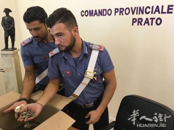 (视频)意大利普拉托警方查获一名华人运载的5万5千欧元2欧假硬币 ...