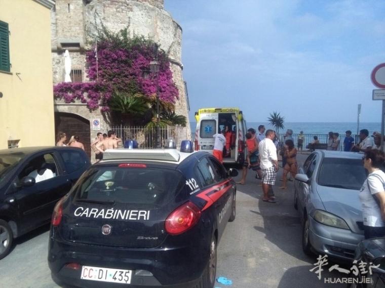 (视频)实拍几名华人在萨沃纳海边打架 警方介入