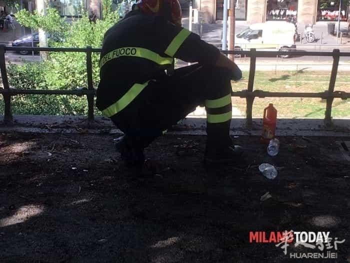(组图)米兰一名男子被人用烧碱泼洒导致毁容