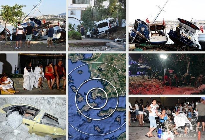 (视频)土耳其海岸6.7级地震引发小型海啸 希腊2人死亡