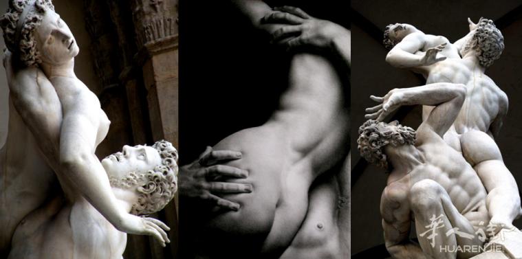 意大利文艺复兴顶级雕塑作品之一《掠夺萨宾妇女》