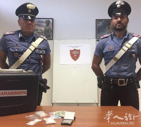 普拉托一名30岁华人家里浴袍藏毒被宪兵查获并拘捕