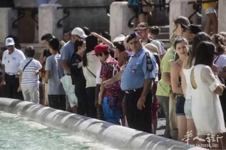 对抗不文明行为, 罗马许愿池今日起终于派出巡逻队!