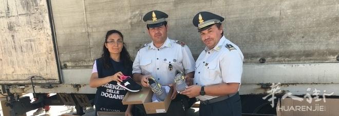 Macerata省华人企业的1万4千双仿牌鞋子被查扣
