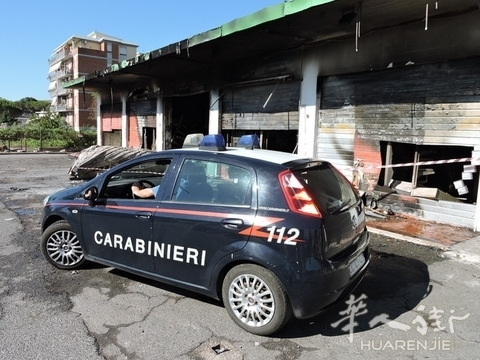罗马华人商店刚刚开业就被人深夜纵火烧毁