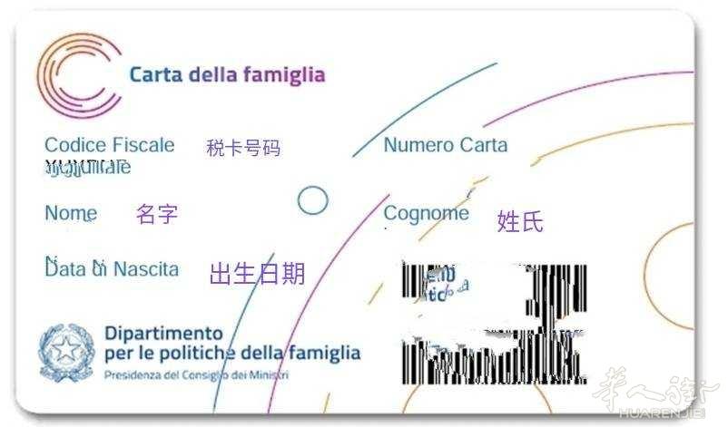 2020年家庭卡Carta Famiglia申请步骤 生活百科 第5张