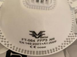 现货 ffp3 v 阀门面罩。防病毒97%-99%
