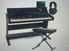 米兰地区 给小孩买的电钢琴 不肯学 用了不到一个月 想买自取 椅子和耳机都有