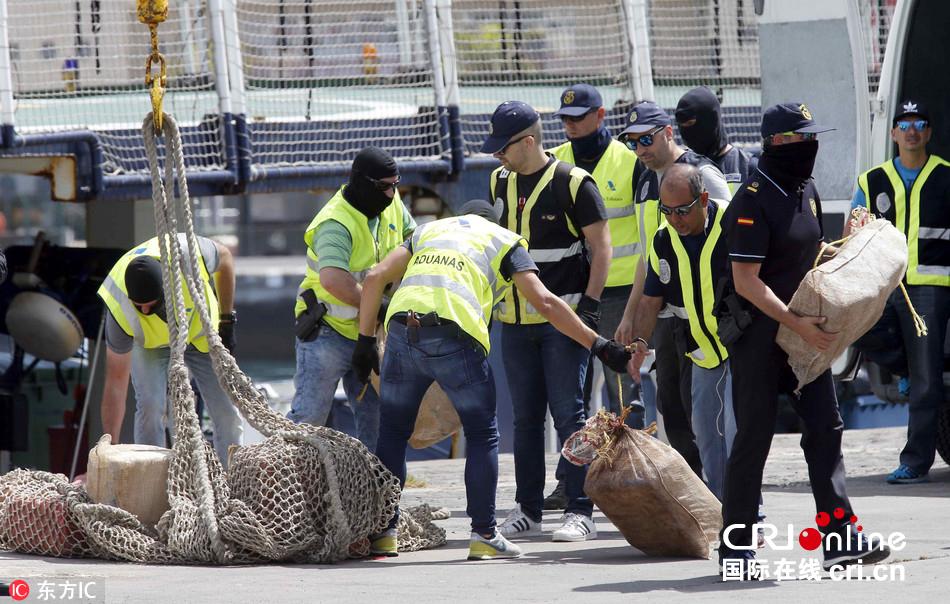 西班牙警方截获2400公斤可卡因