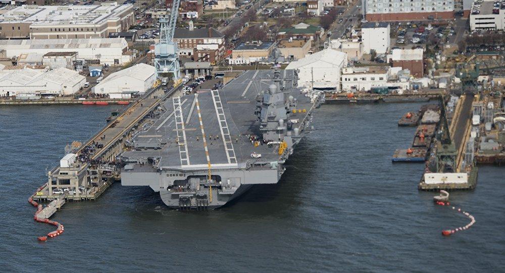 俄媒:美国最贵航母没战斗力 舰载机无法降落