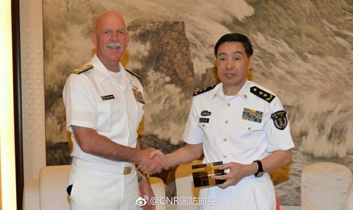 中国海军司令晤美太平洋舰队司令 谈南海问题
