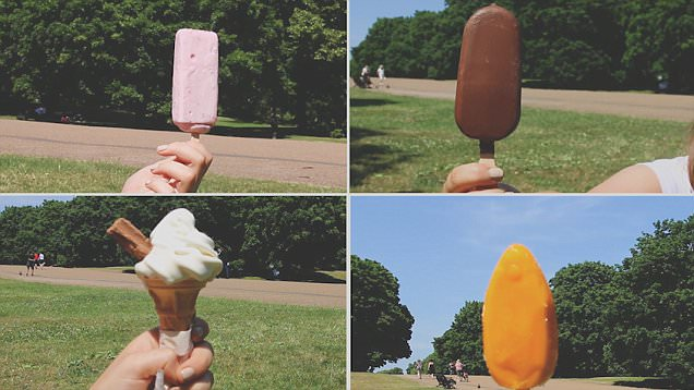 国外人员测试冰淇淋抗热性 场面诙谐有趣
