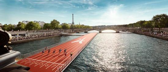 巴黎为申奥将把整个市中心变运动场 塞纳河上建跑道