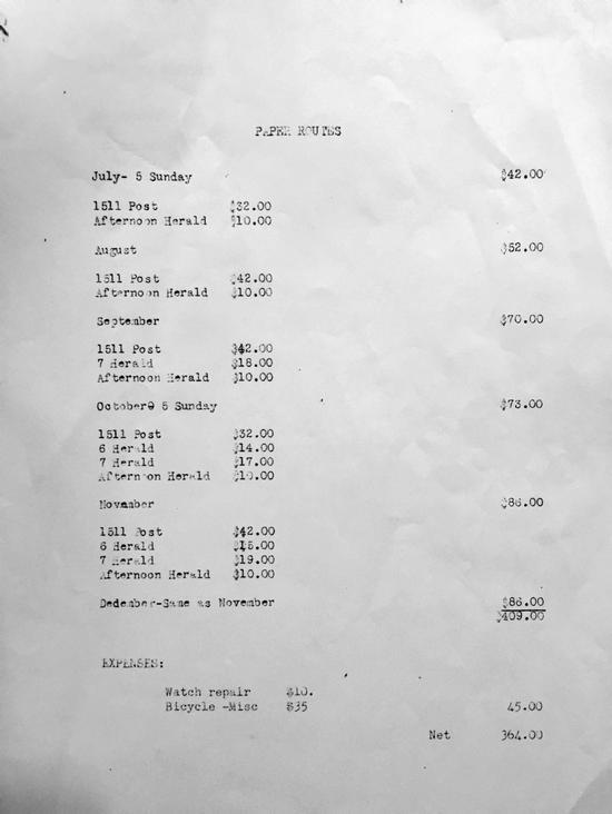 巴菲特人生第一张报税单曝光:14岁时赚了592美元