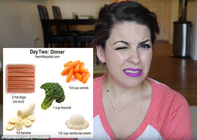 美女子尝试变态减肥食谱 一周减9斤过程痛苦