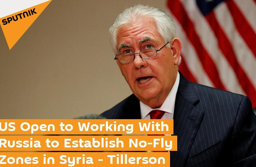"""蒂勒森:美国愿同俄罗斯合作在叙划设""""禁飞区"""""""