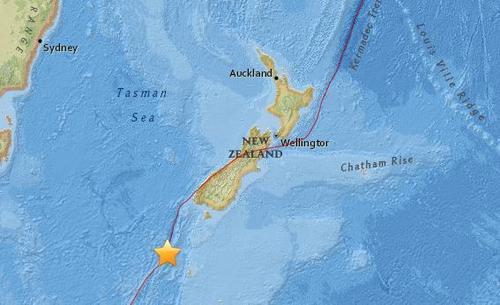 新西兰外海发生里氏6级强震 有建筑摇晃无人受伤