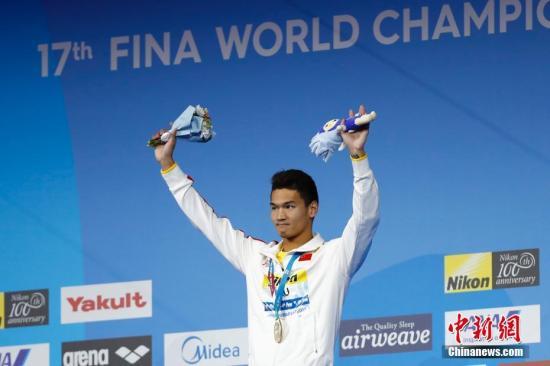 游泳世锦赛:中国队25日夺两金 名将破纪录不停歇