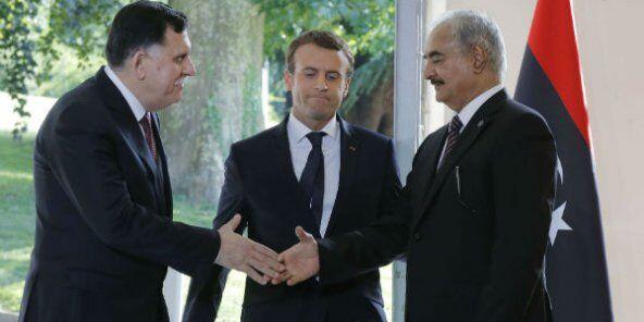 马克龙力促和解 利比亚两大对立派巴黎和谈