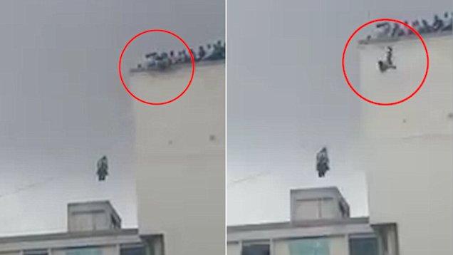 印度16岁女孩从6楼失足坠亡 视频记录可怕一幕