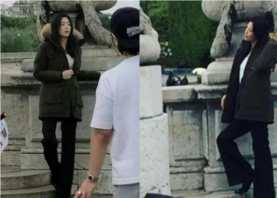 全智贤宣布怀2胎后首现身 穿冬装拍广告身材纤细