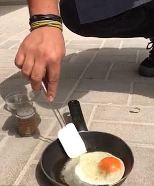 气温50°!迪拜男子用平底锅在阳光下煎鸡蛋