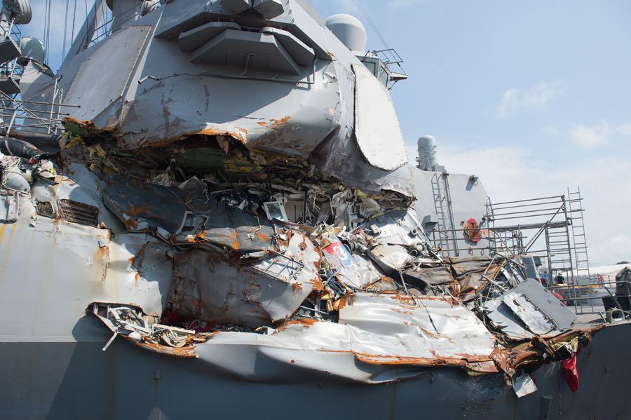 10人失踪5人受伤!美军麦凯恩号驱逐舰与商船相撞