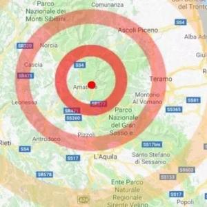 今晨意大利中部城市Amatrice附近发生4.2级地震